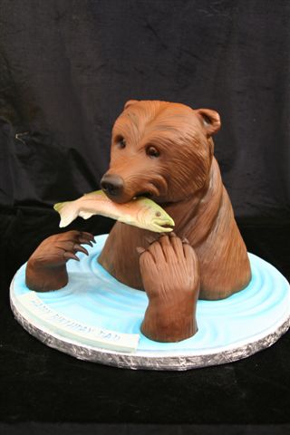 Brown Bear Cake - Ice Fishing, Anyone?